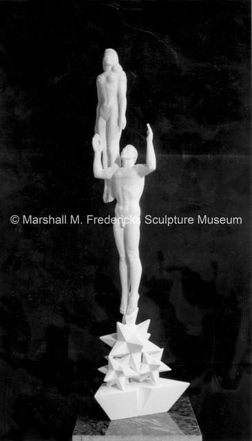 Frontside view of the small-scale plaster model for Star Dream Fountain.jpg