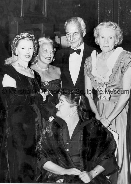 Helen Menken, Mrs. H. Lawrence Bogert, Denmark Ambassador to the United States, the Honorable Henrik Kauffman and Miss Betsy Barton.jpg