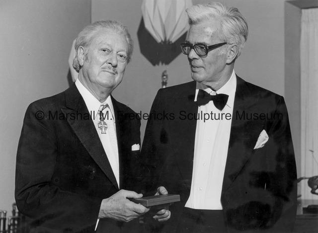 Marshall Fredericks and Bengt Johns, Chicago Danish Consul.jpg