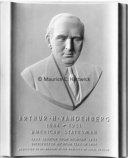 Plaster model for Arthur H. Vandenberg Portrait Relief.jpg
