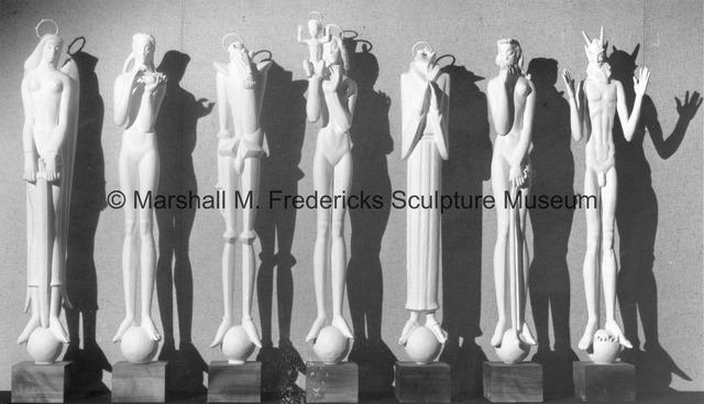 Plaster models for 3Saints and Sinners.jpg