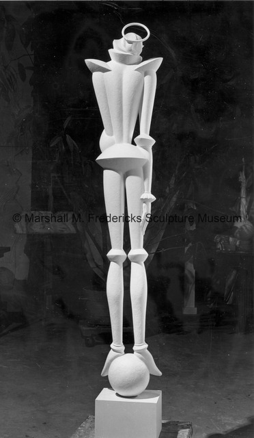 Rear view of the plaster model for Warrior Saint from Saints and Sinners.jpg