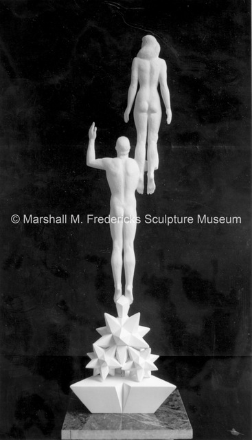 Rear view of the small-scale plaster model for Star Dream Fountain2.jpg