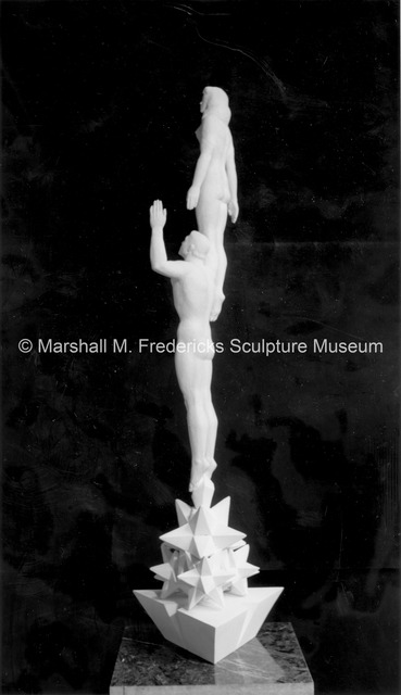 Siderear view of the small-scale plaster model for Star Dream Fountain.jpg