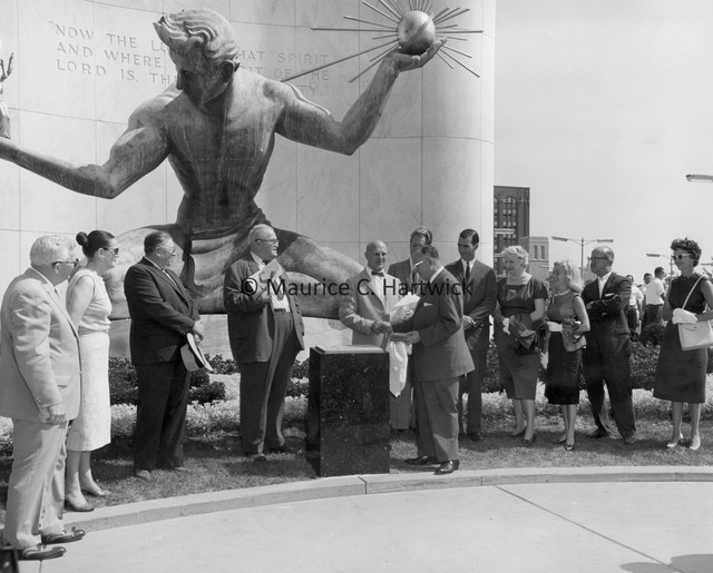 The plaque for The Spirit of Detroit is unveiled.jpg