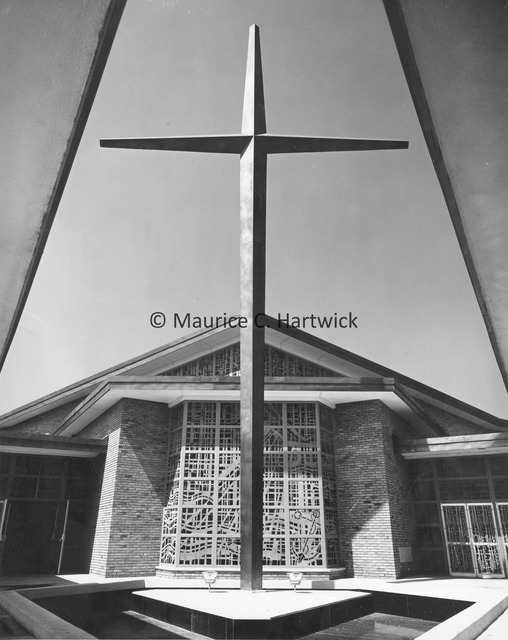 View of cross at Our Lady of Sorrows Catholic Church.jpg