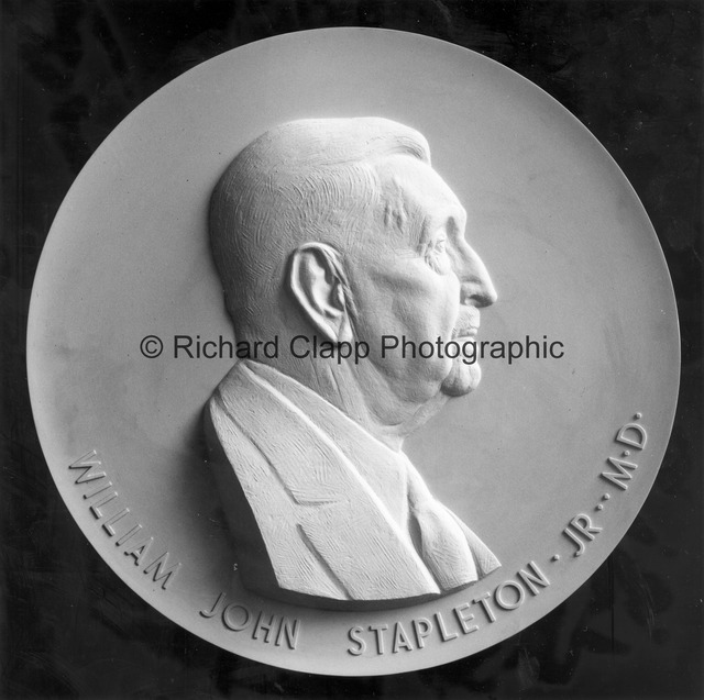 William John Stapleton Jr. M.D. Portrait Relief - plaster model.jpg