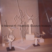 A display of armatures and maquettes in the Marshall M. Fredericks Sculpture Museum.tif