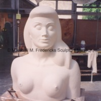 A portion of the plaster model for the female figure for Star Dream Fountain.tif