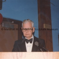 An unidentifed man at the podium during the American-Scandinavian Foundation party honoring Marshall Fredericks2.tif