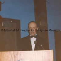 An unidentifed man speaking at the American-Scandinavian Foundation party honoring Marshall Fredericks.tif