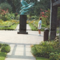 An unidentified woman viewing Wings of the Morning at Brookgreen Gardens.tif