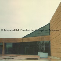 Arbury Fine Arts Buiding - rear entrance to the Marshall M. Fredericks Sculpture Museum.tif
