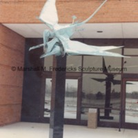 Bronze Flying Pterodactyls at the entrance to the Marshall M. Fredericks Sculpture Museum.tif