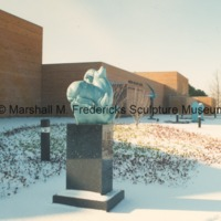 Bronze Siberian Ram in the snow of the Sculpture Garden at the Marshall M. Fredericks Sculpture Museum.tif