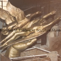Bronze Wings of the Morning (Edgar B. Flint Memorial) at the foundry prior to patinization - side view.tif