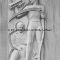 Close-up of Ceramics, Agriculture, and Aeronautical Pioneering from the Ohio Union Building at Ohio State University.jpg