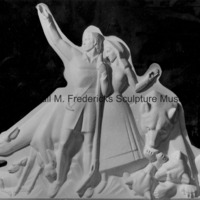Close-up of the plaster model for Pioneer Family and Animals of the Region for Spirit of Kentucky.jpg