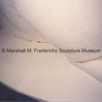 Close-up of the plaster model for Two Bears with cracks.tif