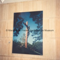 Color photograph and bolt from Christ on the Cross in the Marshall M. Fredericks Sculpture Museum.tif