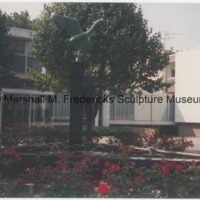 Danish Embassy - Nordic Swan and the Ugly Duckling (Hans Christian Andersen Fountain) surrounded by flowers.tif.tif