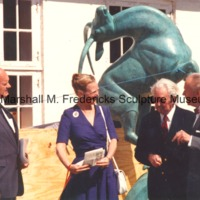 Editor of Den Danske Pioneer Chris Steffensen Queen Margrethe II, Marshall Fredericks and Werner Valeur.tif