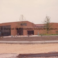 Exterior of the Marshall M. Fredericks Sculpture Museum during the construction of the Sculpture Garden.tif