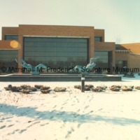Exterior of the Marshall M. Fredericks Sculpture Museum in the snow.tif
