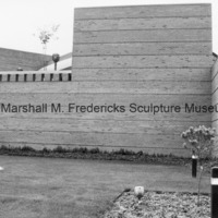 Exterior wall of the Marshall M. Fredericks Sculpture Museum - future site of Youth in the Hands of God.tif