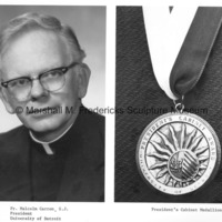 Fr. Malcolm Carron, S.J. and the President's Cabinet Medallion.jpg