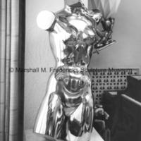 Front view of bronze Torso of a Dancer at the Fredericks residence with Young Knight in the background.jpg