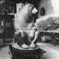 Front view of the full-scale plasteline model for Two Bears.jpg