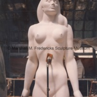 Front view of the full-scale plaster model of the female figure for Star Dream Fountain.tif