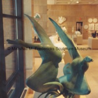Full-scale bronze Flying Wild Geese in the Marshall M. Fredericks Sculpture Museum.tif
