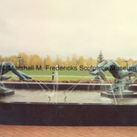 Full-scale bronze Night and Day Fountain in the Sculpture Garden on the grounds of the Marshall M. Fredericks Sculpture Museum.tif