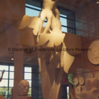 Full-scale plaster model for Freedom of the Human Spirit illuminated in the Marshall M. Fredericks Sculpture Museum.tif