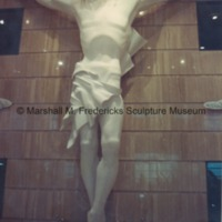 Full-scale plaster model of Christ on the Cross in the Marshall M. Fredericks Sculpture Museum.tif