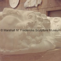 Full-scale plaster model of Eastern Civilization for the Cleveland War Memorial Fountain of Eternal Life in the Marshall M. Fredericks Sculpture Museum.tif