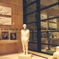 Full-scale plaster model of Henry Ford, plaster reliefs for the Henry Ford Memorial and portrait paintings in the Marshall M. Fredericks Sculpture Museum.tif