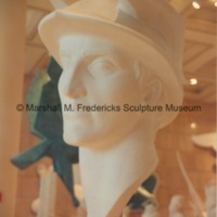Full-scale plaster model of Mercury in the Marshall M. Fredericks Sculpture Museum.tif