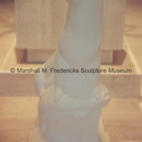 Full-scale plaster model of Otter from the Levi L. Barbour Memorial Fountain in the Marshall M. Fredericks Sculpture Museum.tif