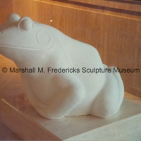 Full-scale plaster model of The Friendly Frog in the Marshall Fredericks Sculpture Museum.tif