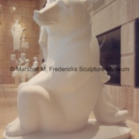 Full-scale plaster model of Two Bears in the Marshall Fredericks Sculpture Museum.tif