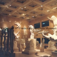 Interior of the Marshall M. Fredericks Sculpture Museum at night - 1989.tif