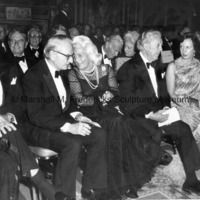 Jeremiah Milibank, Jr., Mrs. H. Lawrence Bogert, Marshall Fredericks and Princess Benedikte at the ICD Communications Award Dinner.jpg