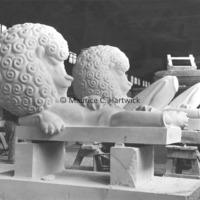 Limestone and plaster lions for The Lion and Mouse.jpg