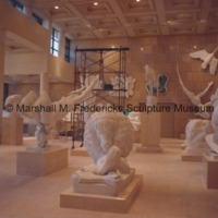 Main Gallery of the Marshall M. Fredericks Sculpture Museum during the installation of sculptures.tif