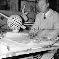 Marshall Fredericks drawing plans for Sun Dial Airport Beacon.jpg