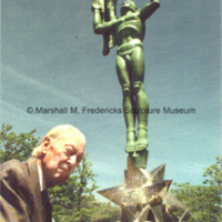 Marshall Fredericks poses with Star Dream Fountain.jpg