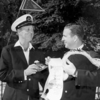 Marshall Fredericks receives a patch and certificate from the Quarton Lake Yacht Club.jpg